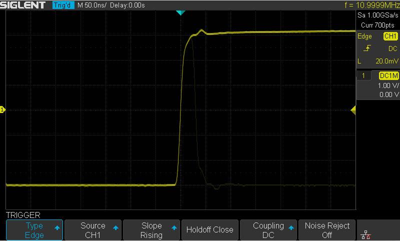 Высокая скорость захвата осциллограмм увеличивает вероятность захвата иллюзорных сигналов