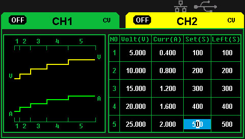 функция программирования таймера в источнике питания Siglent SPD3303X-E