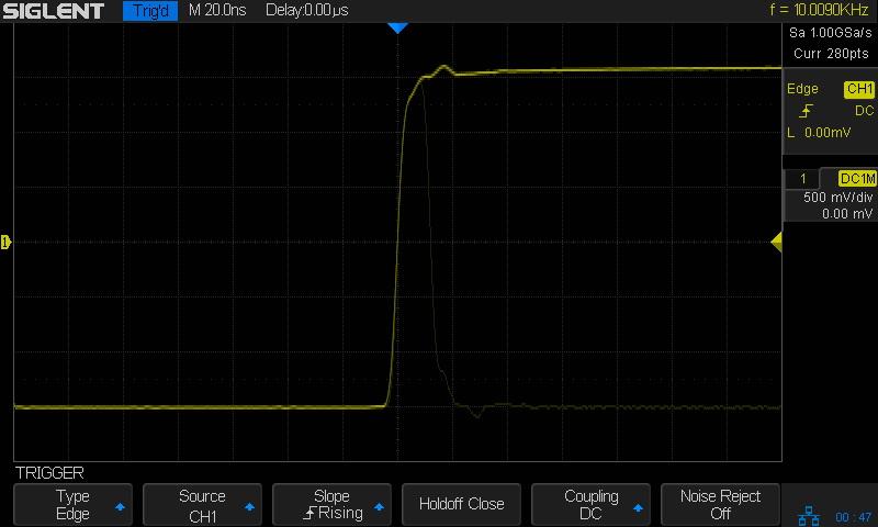 Скорость захвата осциллограмм до 60 000 форм/сек. осциллографом SDS1000x серии