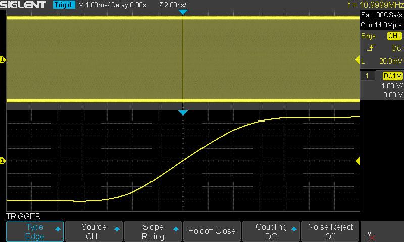 SDS1202X-E осциллограф Siglent обладает памятью 14 млн. точек