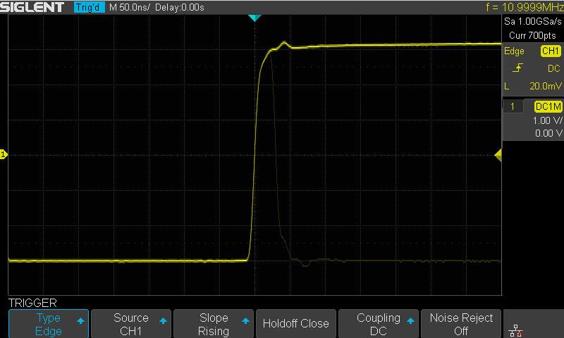 Пример использования сегментированной памяти SDS1202X-E при захвате сложно уловимых событий
