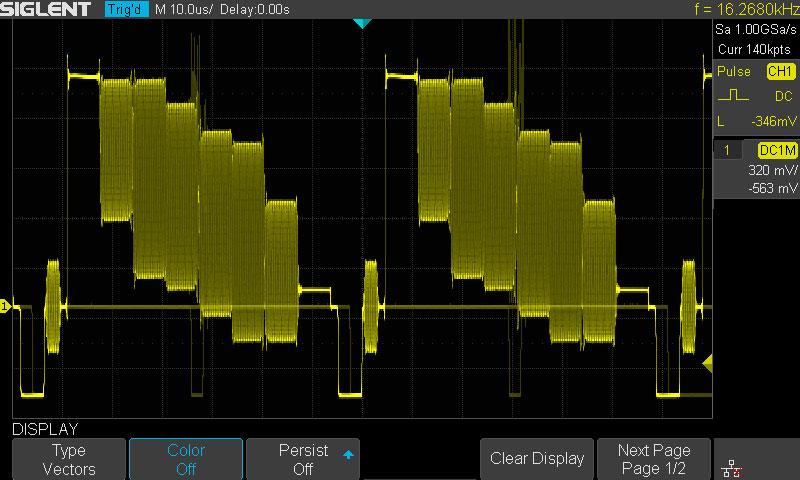 Осциллограф с цифровым фосфором, 256-ть уровней градации
