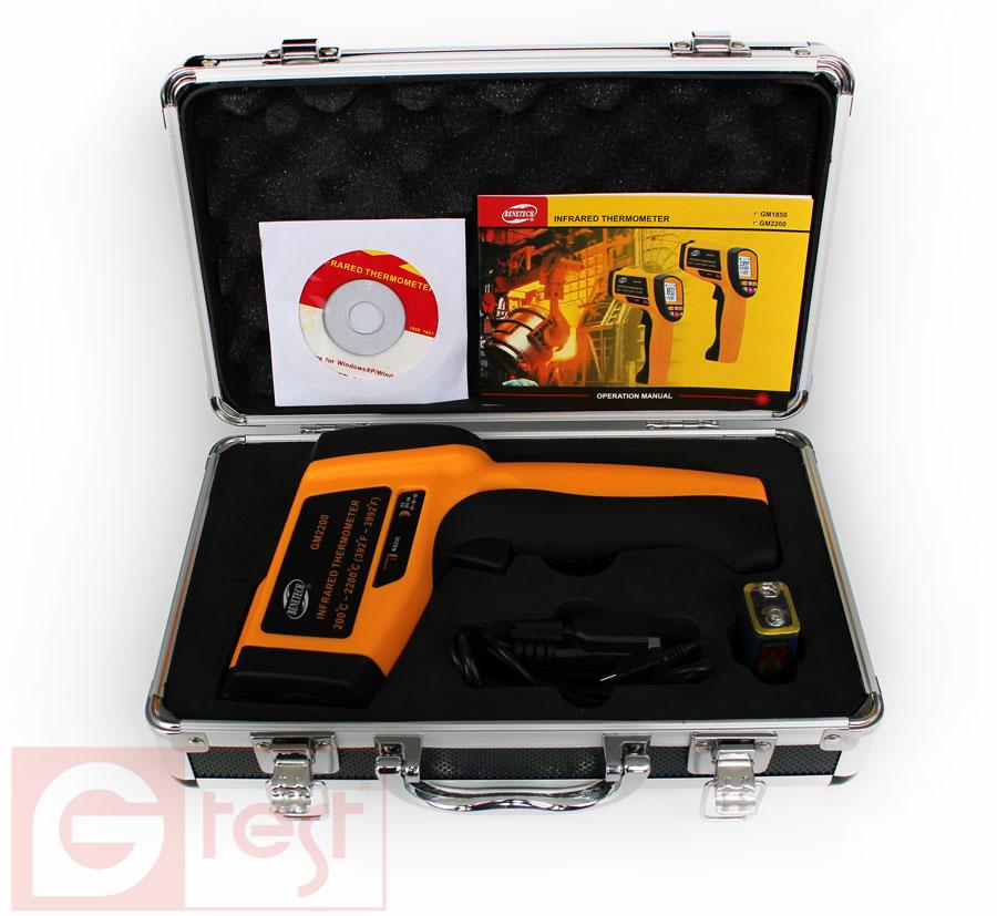 Комплектация GM-2200: кейс, ПО, кабель RS232, пирометр