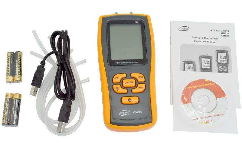 GM-520 дифманометр от компании Benetech